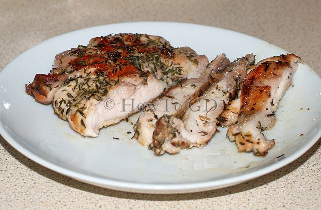 How to grill chicken leg steaks
