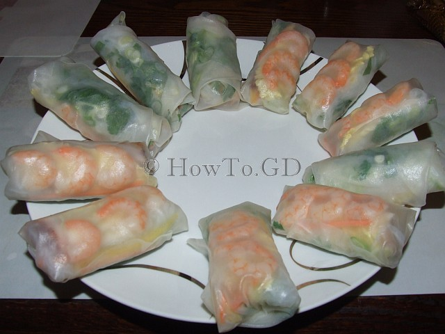 How to make summer rolls Nem cuon