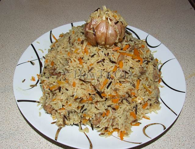 How to make pilaf, basic Uzbek recipe