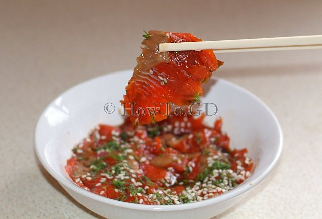 How to make wild Alaskan salmon sashimi