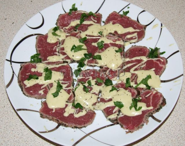 How to cook Carpaccio with Gorgonzola