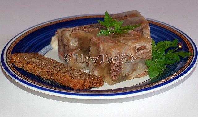 How to make pork trotters aspic with beef