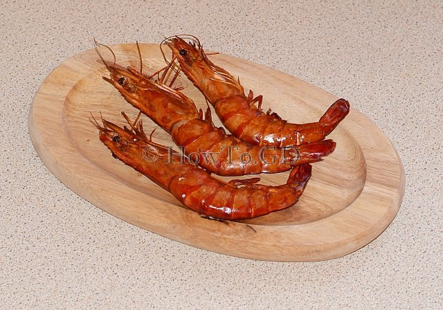 How to cook hot-smoked prawns