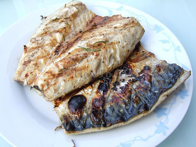 How to grill mackerel on charcoal