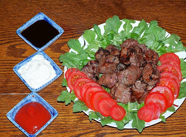 How to cook beef kebab, Caucasian style