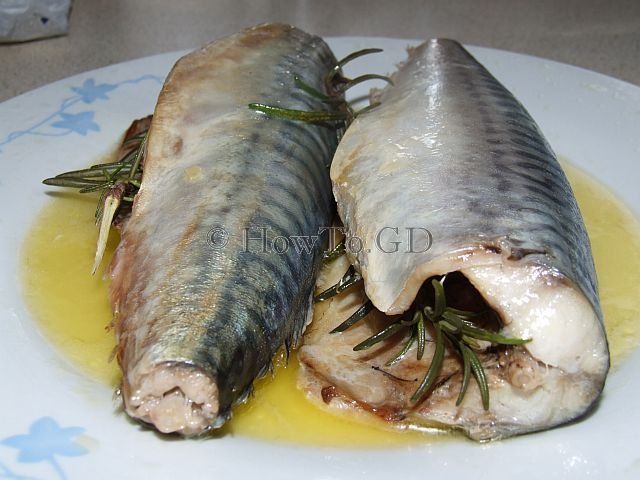 How to cook mackerel in microwave