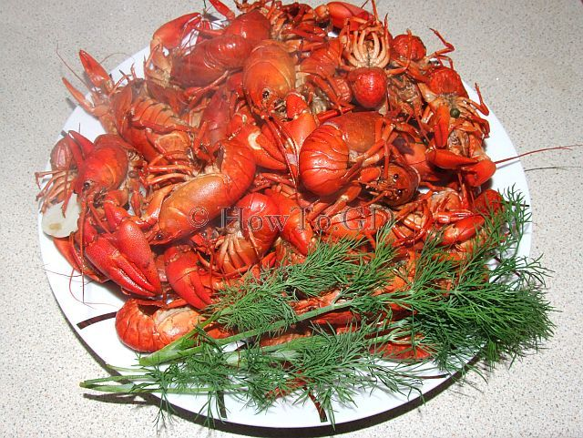 How to cook crayfishes, simplest recipe