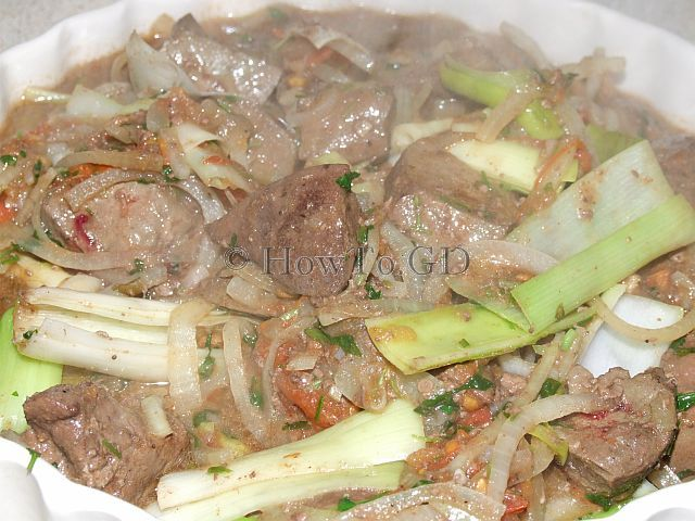 How to braise lambs liver with vegetables