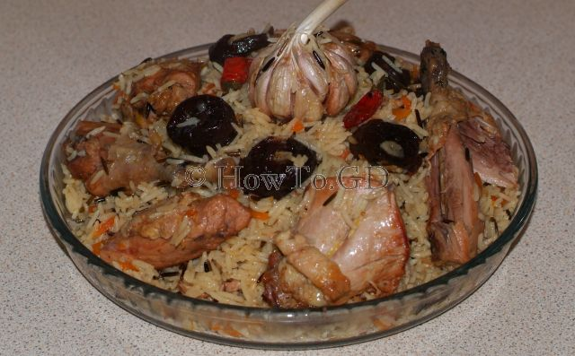 How to make pheasant pilaf with plums