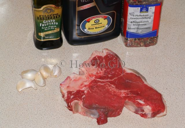 How to grill Porterhouse steak with Garlic-Soy sauce