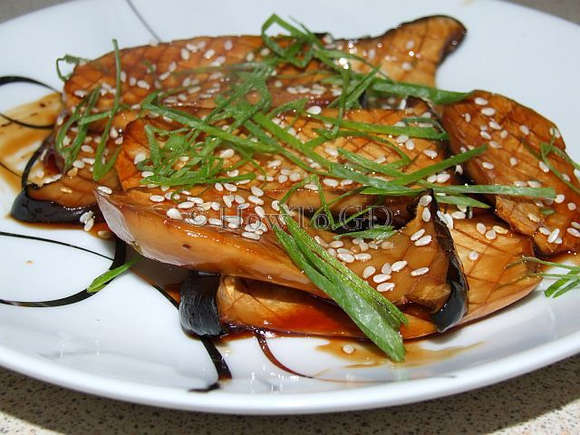 How to cook king oyster mushrooms in soy sauce