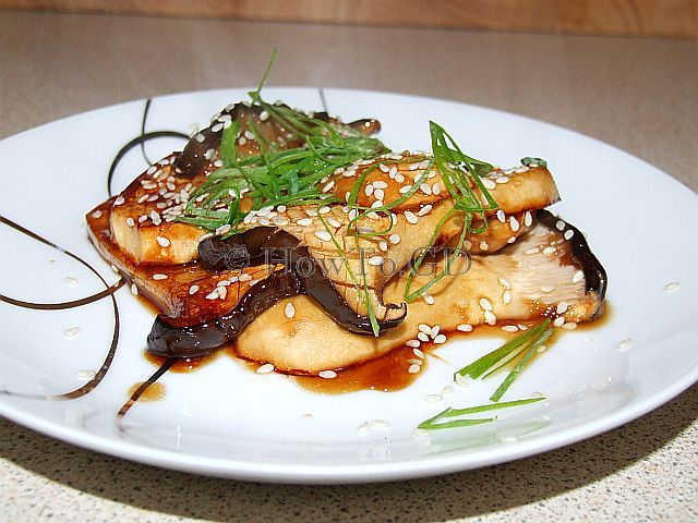 How to cook king oyster mushrooms in hot and sweet soy sauce