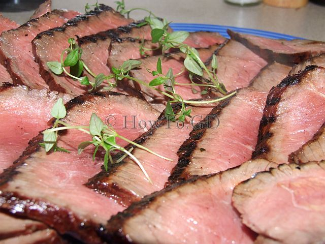 How to make wine and vinegar marinated London Broil from Round steak