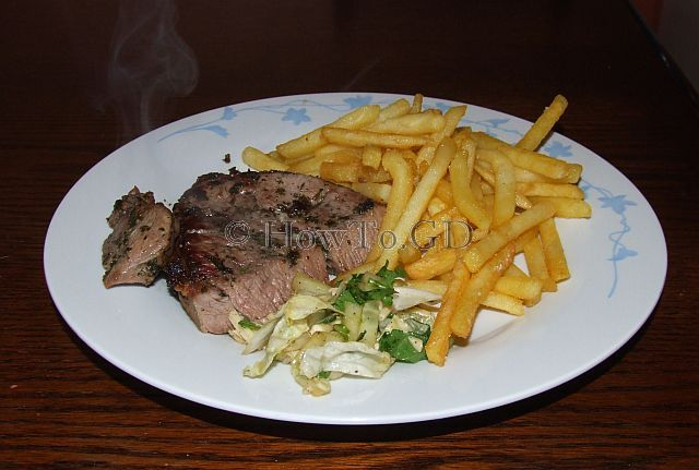 How to make minted lamb steak