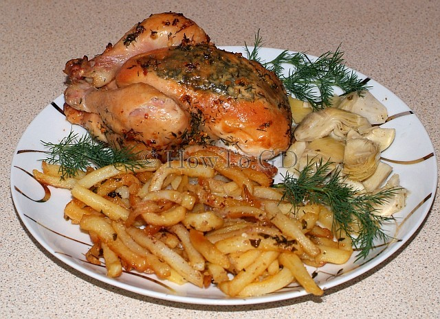 How to roast poussin in garlic butter
