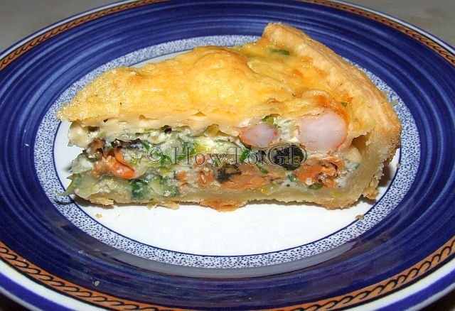 How to make seafood quiche