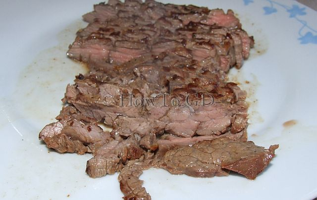How to make vinegar marinated London Broil